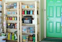 Garage/Shed / organization hacks for the garage and shed