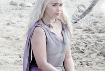 lit. ch: got -- daenerys targaryen / mother of dragons  caring girl selled to a barbaric man who married her and maybe saved her; monsters can be found in family. fc: emilia clarke