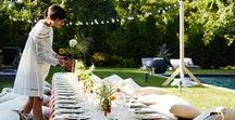 Backyard Picnic Soiree / Soirée: an evening party or gathering, typically at a private house, for conversation, music and food.