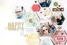 Scrapbook Layouts - Chevrons / Hexagons / by Gwen Lafleur