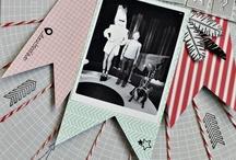 Scrapbook Layouts - Tags / Banners / by Gwen Lafleur
