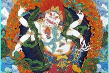 White Mahakala / Collection of traditional thangkas and statues of the yidam White Mahakal