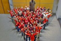 THI goes red for Wear Red Day / Texas Heart Institute shows off their red outfits to support awareness for women's heart health. Wear Red Day, February 6th, 2015. / by Texas Heart Institute
