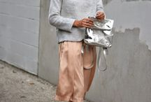 trend | skirts and sweaters / Teaming a glamourous skirt with a cosy oversized sweater - one of my all time favourite looks.