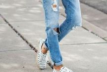 wear | ripped denim / Ripped jeans and statement denim looks.