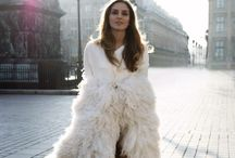 trend | feathers & fur / Feathered skirts and fur coats.