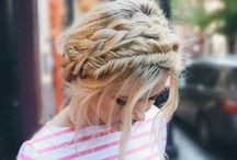 hair | braided styles / Braided hairstyles: up dos, halo braids, fishtail braids and plaits.
