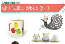 Gift Guides - Babies (0-1) / The best unique kids toys, gear, and gifts you'll find anywhere this holiday season - see them here on the board, or at SmallforBig.com where there's a Gift Guide for every one and every age on your Christmas List!