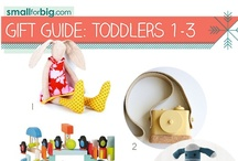 Gift Guides - Toddlers (1-3) / The best unique kids toys, gear, and gifts you'll find anywhere this holiday season - see them here on the board, or at SmallforBig.com where there's a Gift Guide for every one and every age on your Christmas List!