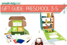 Gift Guides - Preschool (3-5) / The best unique kids toys, gear, and gifts you'll find anywhere this holiday season - see them here on the board, or at SmallforBig.com where there's a Gift Guide for every one and every age on your Christmas List!