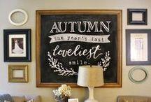 Fall/Autumn Decor / Fall and Autumn Decor