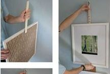 DIY hang a picture frame / whats the best ways to hang a picture frame?