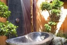 Bathrooms / LOVE a pretty bathroom...esp. an outdoor one with ocean  view.