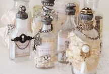 bottles - altered & decorated / a collection of beautifully decorated & altered bottles of all shapes and sizes!