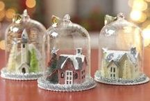 cloche/domes / little glass enclosures, that hold beautiful things, sceneries, trinkets, and such.  Oh, and all hand-made
