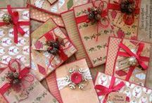 Christmas Cards, Tags, and more / holiday cards, tags, gift card holders, and some packaging.