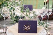 Wedding Day Paper Details / Menus, Escort Cards, Food and Beverage Signage, Programs, Favors and more!