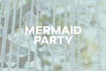 A Mermaid Party / Birthday party inspiration: mermaid, ocean, ariel, little mermaid, sea, under the sea, seashells, shells, beach, tiki, luau, disney.