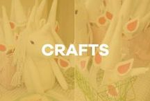 Crafts / Easy crafts + DIY projects to share with your children!