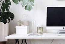 heart office spaces / My favourite office spaces and accessories for offices / by Meagan | Row House Nest