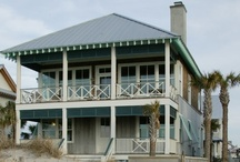 Beach House Cues / Beach House Renovation Planning; photos taken from Gulf Coast beach cottages