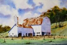 Rural Landscape Watercolor Paintings by Jim Oberst