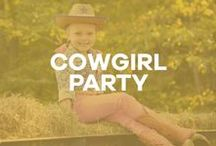 A Cowgirl Party / Birthday party inspiration: western, cowgirl, cowboy, hayride, weenie roast, cookout, campfire, bandana, plaid, horse.