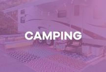Camping / camping, campers, RV, airstream, travel trailer, glamping, DIY, camper makeover, renovation, fixer upper, before and after