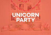 A Unicorn Party / Birthday party inspiration: unicorn, rainbow, whimsical, party hat, diy, fantasy, pegasus, my little pony.