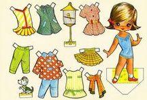 Crafts ~ Paper Dolls, Dresses & Illustrations