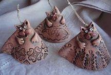 Clay Cat Ideas / by Nancy Degenkolb