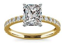 Gold Engagement Rings / Our selection of beautiful gold diamond engagement rings are custom made to order here at brilliance.com. For more information about a specific piece, contact us at 1-866-737-0754 or service@brilliance.com