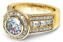 Gold Diamond Rings Collection / by Brilliance.com