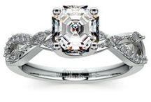 Asscher Diamond Rings Collection / Customize your wedding ring or engagement ring with an Asscher diamond from brilliance.com. For more information about a specific piece, contact us at 1-866-737-0754 or service@brilliance.com