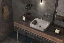 Lavatórios l Washbasin / Linha de lavatórios em betão ACL Disponível em 3 cores. -- ACL concrete washbasin Available in 3 colors.