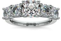 Moissanite Engagement Rings / Moissanite engagement rings combine quality with value and are the perfect gift!