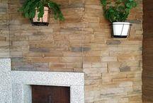 Churrasqueira c/ Royal ll Barbecue grill w/ Royal / Veja como ficou! Churrasqueira revestida a ROYAL! Material:  Revestimento de betão - Royal  Cor - RY08 -- Take a look! Barbecue grill covered by ROYAL! Material:  Wall concrete tile - Royal  Color - RY08