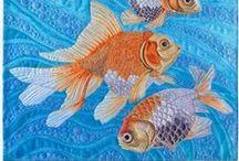 """Fiber art by Susan Brubaker Knapp / Fiber art (""""art quilts"""") by Susan Brubaker Knapp."""
