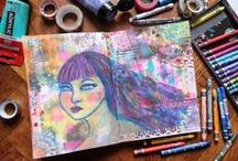 Art Journal-Watercolor-Mixed Media / keep a journal with things you like and express yourself by the means of ART!