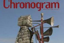 2013 Chronogram Covers / Hudson Valley's Chronogram Magazine Covers from 2013. For 20 years, Chronogram has featured the work of hundreds of Hudson Valley artists on its cover. Unlike most publications, Chronogram does not put any text on the cover but its logo, allowing artists an unadorned canvas for their paintings, photographs, sculptures, illustrations, and mixed-media work.