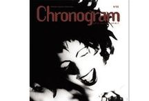 2001 Chronogram Covers / Chronogram features the art work of these Hudson Valley artists on its covers in 2001. Unlike most publications, Chronogram does not put any text on the cover but its logo, allowing artists an unadorned canvas for their paintings, photographs, sculptures, illustrations, and mixed-media work.