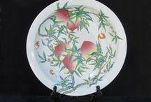 Vases & Plates / Golden Lotus Antiques  2049 El camino real San Mateo, CA 94403 tel: 650-522-9888 goldenlotusinc@yahoo.com  http://stores.ebay.com/Golden-Lotus-Antiques-And-Furniture
