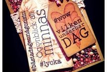PYSSELDAGS / These pics are made with stamps and/or other products from Pysseldags.  See more at http://blog.pysseldags.com http://shop.pysseldags.se