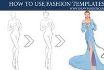 Fashion Templates / Free fashion figure templates from I Draw Fashion