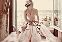 Pink and Blush Wedding Dresses / Calling all Blushing brides!!!  We love a splash of bridal blush in our gowns too.  Try some on in our Seattle, Indiana, Michigan, and Chicago stores 1-800-480-5519