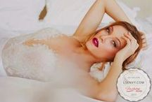Gowns by Necklines: V-Neck / How low will you go? Plunging neckline are sweeping the country in bridal.