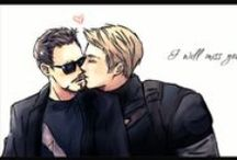 Captain America and Tony Stark / Stony and Superparents (Cap, IronMan and Spidy) also Spiderpool and superparents with other Avenger :)