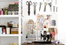 Studio-Sew for the Homefront! / Because it's sew important to have a room of one's own to stitch in...and also for visitors to know immediately upon entering one's  abode that a stitcher lives there.