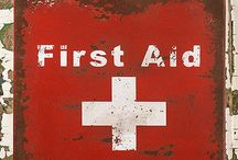 Vintage Red Cross and First Aid! / I inherited a vintage Metal First Aid Kit cupboard from a purchased home I lived in. It started a love for vintage first aid kits and Red Cross memorabilia. One day I'll get that blog started again and share my photos.