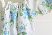 Sewing ideas with vintage linens / Repurposing vintage table clothes, napkins etc